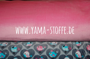 Fleece Velour Microfleece rosa