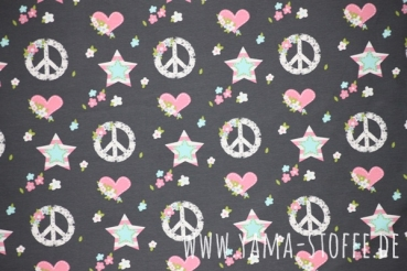 Jersey Peace & Love grau