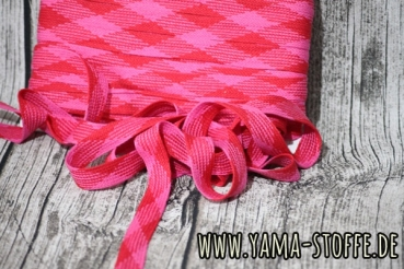 Hoodieband 20mm pink/rot