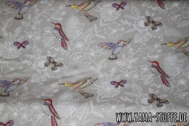 French Terry Kolibriliebe creme