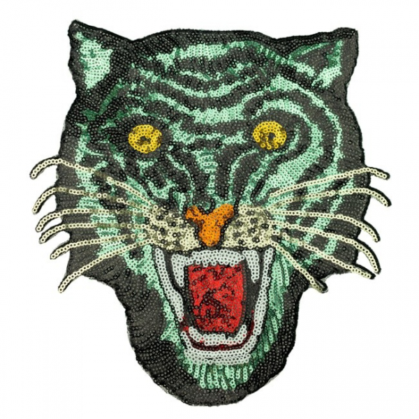 Pailletten Patch Tiger