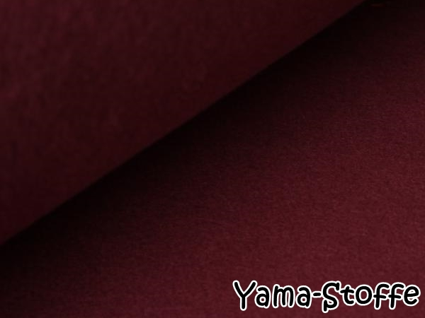 Bio Baumwollfleece 509 bordeaux