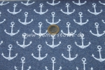 French Terry Sommersweat Anker jeansblau